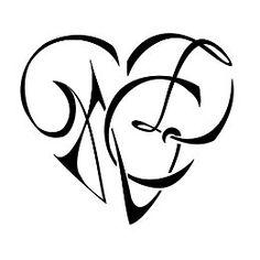 heartigram, heart, letters, lettering, union, love, family, bond