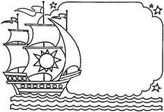 Nina, Pinta, and Santa Maria coloring sheet. Columbus