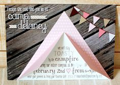 camping invitation - Beth Kruse Custom Creations: camping party