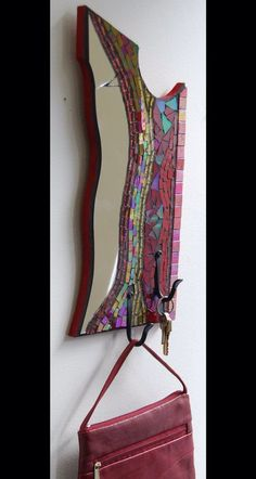 Gancho de mosaico con vidrio y espejo en la por AtelierGrada