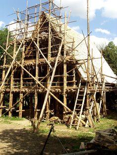 fertige Dachkonstruktion