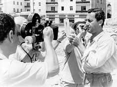 #throwbackthursday The famous Alberto Sordi during the shooting of his film along Castiglioncello promenade (Livorno).