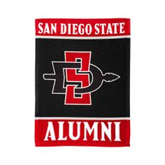 """bd4aa6e09 SDSU Alumni Garden Flag 11"""" x 15"""" vertical garden flag featuring San Diego  State Alumni and the interlocking SD Spear. For indoor or outside use. $22"""