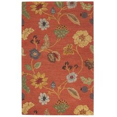 Home Decorators Collection Portico Red 5 ft. 3 in. x 8 ft. 3 in. Area Rug - 0167615110 - The Home Depot