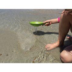 Set aus Sandschaufeln und Sieb in der Form von Rochen, Schildkröte und Wal. Gefertigt zu drei Vierteln aus Bambusfasern... - Sandspielzeug Animo