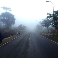 Early morning fog on the Aburi road.  When driving in fog allow more distance between you and the car in front and also use your fog or driving lights. Stay safe.  #WATSLtd #PeugeotGhana #fog #Ghana #Aburi by peugeotghana