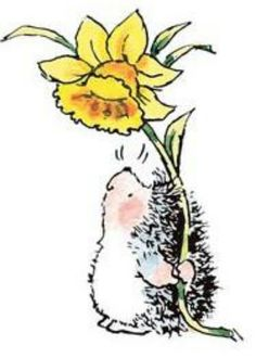 Penny Black - hedgehog and daffodils - add chocolate and you have my three most favorite things!