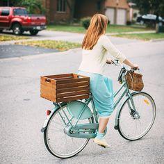 wooden DIY bike crate
