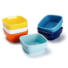 OverviewIdeal for serving all kinds of cooking, making it a dynamic presentation with glazed in a variety of vibrant colors. These dipping bowls are finely crafted of durable porcelain for years of service. Resists chips and stains and is safe to use in the dishwasher, oven and microwave.More DetailsColor: MulticoloredMaterial: PorcelainSet of 6Size: 8 OunceUse Microwave, dishwasher, oven safe Lead free, food safe Fit for ice cream, soup, all kinds of sauces and more Care To clean, simply wipe w Cream Brulee, Soup Crocks, Side Salad, Bowl Set, Safe Food, Stoneware, Dishwasher, Vibrant Colors, Oven