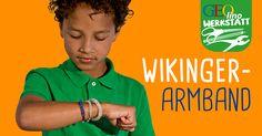 Ihr wollt coolen #Wikingerschmuck selber machen und #Armbänder #basteln? Dann ist dieser #Basteltipp aus unserem #GEOlino Extra genau das richtige für euch! #kinder #armband
