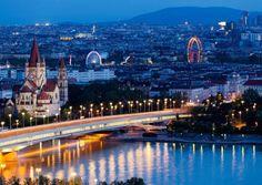 Panorámica de Viena, Austria