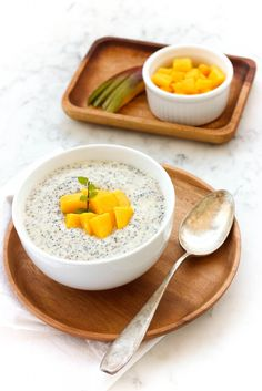 Rich and creamy, this deliciously thick mango chia seed pudding takes just 10 minutes of preparation before chilling in the fridge. I bet you'll love it.