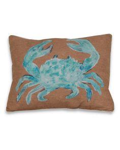 Thro 'Water Color Crab Aqua' Decorative Pillow