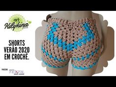 Crochet Shorts Pattern, Crochet Pants, Crochet Square Patterns, Crochet Fringe, Crochet Designs, Crochet Clothes, Crochet Stitches, Moda Crochet, Free Crochet