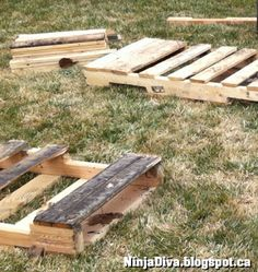 How to - DIY - Pallet Bench