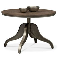 Cromwell Adjustable Dining Table - Distressed Wood