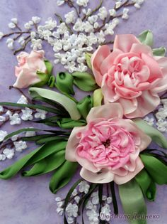 Gallery.ru / Фрагмент вышивки - Любимые розы - silkfantasy