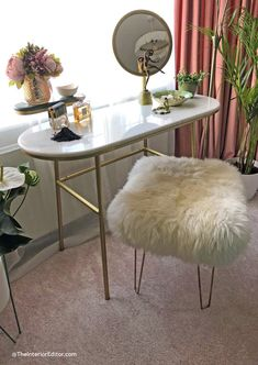 decadent and elegant Art Deco-inspired bedroom makeover - The Reveal! Our decadent and elegant Art Deco-inspired bedroom makeover - The Reveal!,Our decadent and elegant Art Deco-inspired bedroom makeover - The Reveal! Bedroom Dressing Table, Dressing Table Design, Dressing Table With Stool, Quirky Dressing Table, Dressing Table Inspiration, Art Deco Dressing Table, Vintage Dressing Tables, Art Deco Furniture, Bedroom Furniture