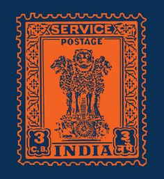 A striking postage stamp made into what looks like a rubber stamp. Nice irony ;)