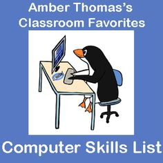 """Has the role of """"Computer Teacher"""" been thrust upon you? Here is a list of computer skills that I, a regular classroom teacher, developed for my fourth graders. There is a mix of basic keyboarding skills, internet know-how, and navigating Windows. These are the basic skills that many students will already know (which lends itself very well to peer teaching) but students who have limited computer access might not have mastered. FREE!"""