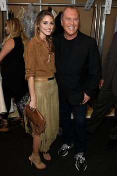 Olivia Palermo and Michael Kors - Backstage At Michael Kors Spring 2015 Fashion Show