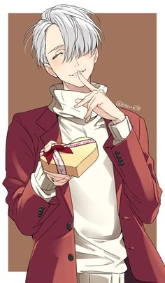 happy valentines day! i would totally accept that if viktor was giving it to me.. but the only person hes giving to would me the one and only yuri (^ー^)ノ