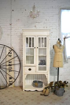 Painted+Cottage+Chic+Shabby+Farmhouse+Cabinet+by+paintedcottages,+$595.00