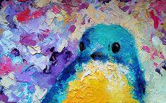 from redbubble:Blue bird by mariakitano