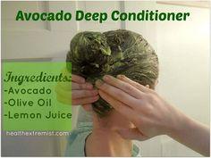 paleo hair, skin and beauty avocado deep conditioner