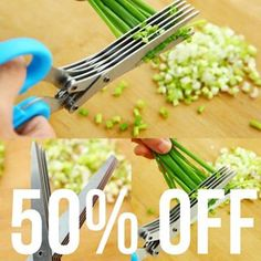 The Shredding Scissors 6 Blades will cut nice small pieces of any type of food. Be amazed at how easy this is! It has 6 blades the food will be cut precise! Kitchen Sale, Kitchen Tools, Cool Kitchens, Must Have Kitchen Gadgets, Types Of Food, Scissors, Green Beans, Eco Friendly, The Best