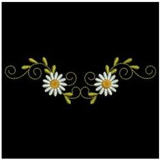 Beautiful Daisies 09 machine embroidery designs