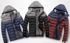 HOT SALE 2015 Winter men's clothes down jacket coat,men's outdoors sports thick warm parka coats & jackets for man 1801