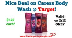 AWESOME SAVINGS!! Get your coupons ready and pick up this deal TOMORROW 2/12 ONLY! Nice Deal on Caress Body Wash @ Target **Valid 2/12 ONLY**  Click the link below to get all of the details ► http://www.thecouponingcouple.com/nice-deal-on-caress-body-wash-target/ #Coupons #Couponing #CouponCommunity  Visit us at http://www.thecouponingcouple.com for more great posts!