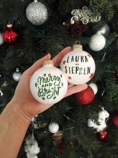 Bastelideen für DIY Geschenke zu Weihnachten, persönliche Weihnachtskugel selber machen