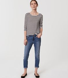 a1408204b7f Modern Skinny Crop Jeans in Bright Mid Indigo Wash
