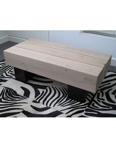 3 beam two tone coffee table made from solid oak. Ideal for both traditional and contemporary interiors.