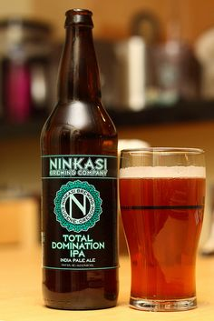 Ninkasi Total Domination IPA - Oregon's Ninkasi is one of the nation's fastest-growing breweries, thanks in large part to this unsubtly named beer (Ninkasi was the ancient Sumerian goddess of brewing) – a potent, aggressive IPA with pungent hops and flavors of citrus rind and caramel.