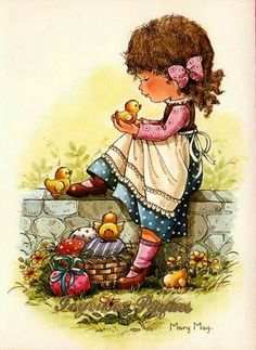 mary may art Mary May, Sarah Key, Picture Postcards, Holly Hobbie, Vintage Easter, Cute Illustration, Cute Drawings, Paper Art, Sketches