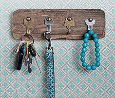 diy decor; key hooks