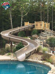 27 Inspiring Swimming pool slides images | Gardens, My dream house ...