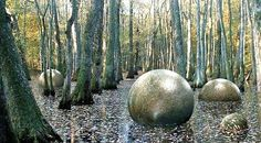 Costa Rica huge balls located in the rain forest