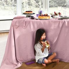 Ceryas Crinkle-Look Tablecloth La Redoute Interieurs