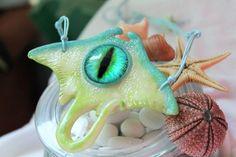 Stingray eye pendant necklace / Handmade / Polymer Clay #Handmade