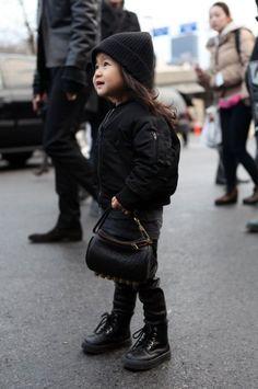 alexander wang's niece aila Kids fashion / swag / swagger / little fashionista / cute / love it! Fashion Kids, Look Fashion, Street Fashion, Girl Fashion, Street Chic, Fashion Design, Stylish Little Girls, Stylish Kids, Little Fashionista