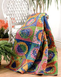Circle Quilt - would be a great rag quilt with flannel.