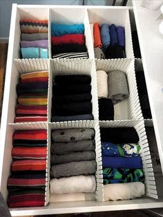 KonMari method: all about this storage technique - WARDROBES Ikea Closet Organizer, Closet Organisation, Home Organization, Clothing Organization, Baby Clothes Storage, Clothes Drawer, Organize Baby Clothes, Fold Clothes, Baby Shelves