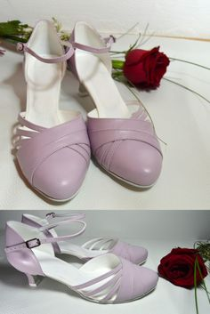 Svadobné topánky - levanduľová, svatební boty - světlá fialová, svadobná obuv na nízkom opatku, topánky v retro štýle, pravá koža jemná fialová - levanduľová. Tanečná obuv s úpravou na bežné nosenie aj vonku. Navrhni si aj ty topánky podľa svojho vkusu. Ballet Dance, Ballet Shoes, Dance Shoes, Beautiful Shoes, Character Shoes, Slippers, Retro, Fashion, Ballet Flats