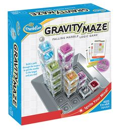 This gravity powered logic maze is sure to put your visual perception and reasoning skills to the test. The colourful, translucent towers can be arranged in a plethora of visually stimulating structures but, for each challenge, you'll have to think carefully to build a path that will successfully carry your marble to its target. 60 challenges, ranging in difficulty,%...