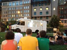 Movie Night at Clover Food Truck (Dewey Square)    http://gryphonguide.wordpress.com/2012/08/06/three-fabulous-outdoor-events-in-boston/