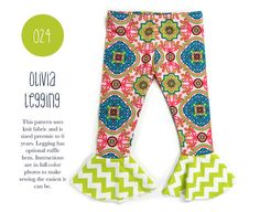 024 Olivia Leggings PDF Sewing Pattern Kid by SpitUpandStilettos